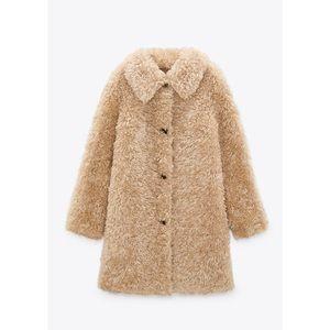 NWT ZARA Faux Fur Teddy Coat
